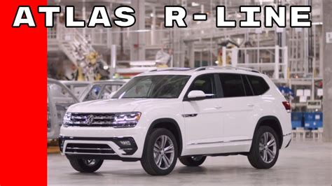 volkswagen atlas r line us spec 2018 volkswagen atlas r line walkaround youtube