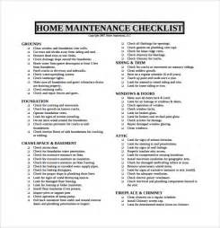 sle maintenance checklist template 9 free documents