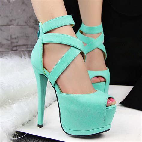 2015 high heels sandals summer shoes platform