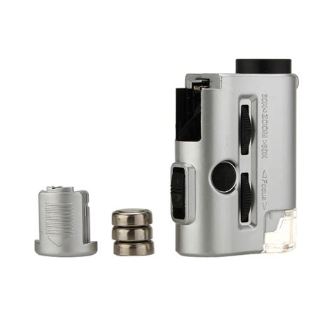 Pocket Microscope 60x Magnifier With Flashlight Uv Light 9592 mini 30 60x pocket microscope loupe led uv light magnifier alex nld
