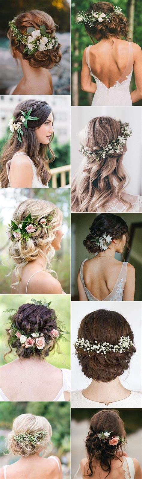 hairstyles decorated with flowers follow me on insta itsfaithelizabeth wedding hair