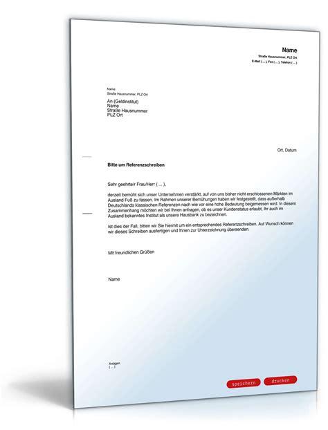 Brief Anfrage Finanzielle Unterstützung Bitte An Bank Um Referenzschreiben Vorlage Zum
