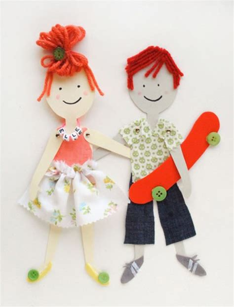 Paper Doll Crafts - diy articulated paper dolls diy paper dolls and template