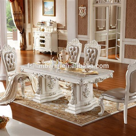 provincial dining room furniture luxury white lacquer silver gold stroke antique provincial dining room furniture marble