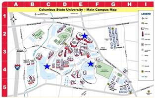 Columbus State Map by Designated Smoking Areas Smoke Free Policy Columbus