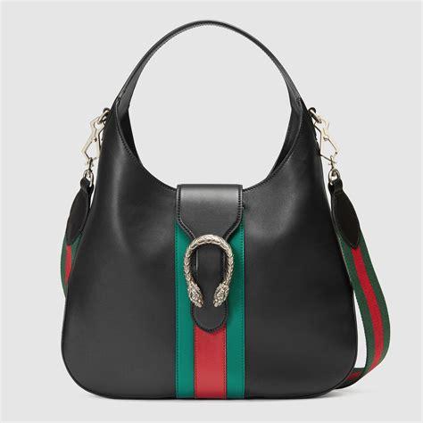 New Gucci Hobo Dionysus Medium Hardware Black Like Ori Leather G10208 gucci dionysus medium web stripe hobo bag in black lyst