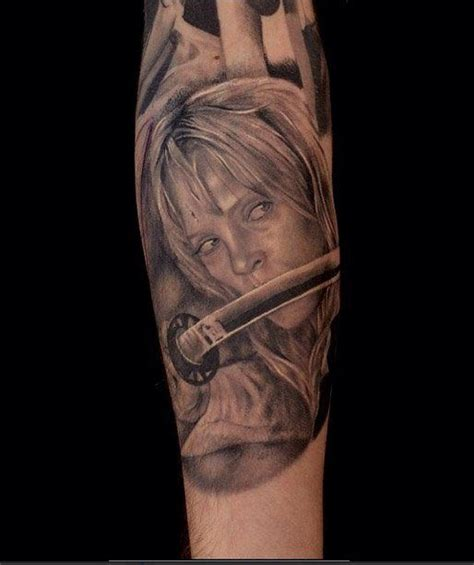 kill bill tattoo part of a tarantino sleeve that lajoie is still working on