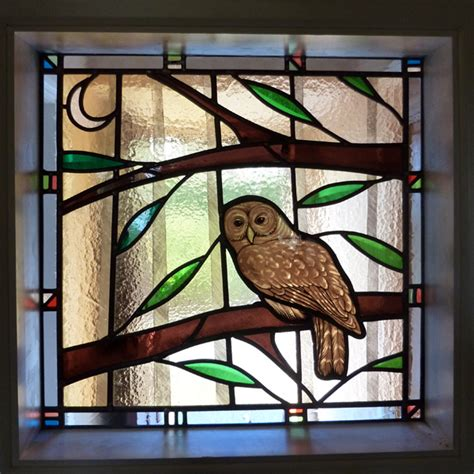 Arts And Crafts Kitchen Design Stained Glass Owl Steven Cartwright Glass Designs
