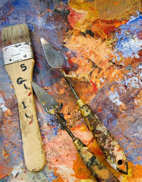 acrylic painting brush techniques learn how to paint with a knife knives paintings and