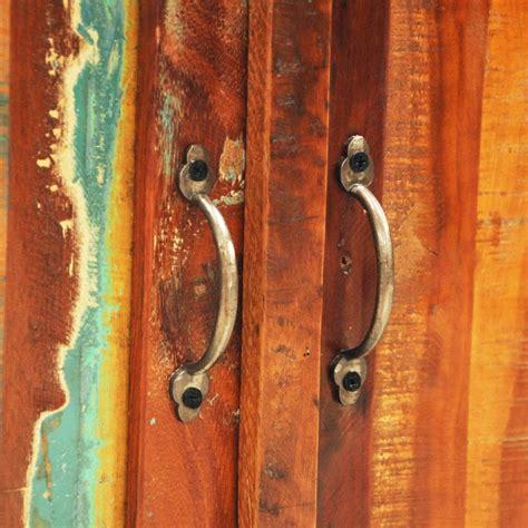 armadietto in legno armadietto in legno anticato con due porte stile antico