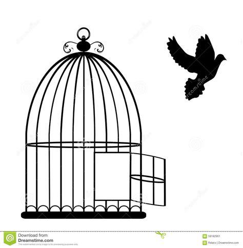 Birdcage Wall Art Stickers bird cage stock vector image 58182961