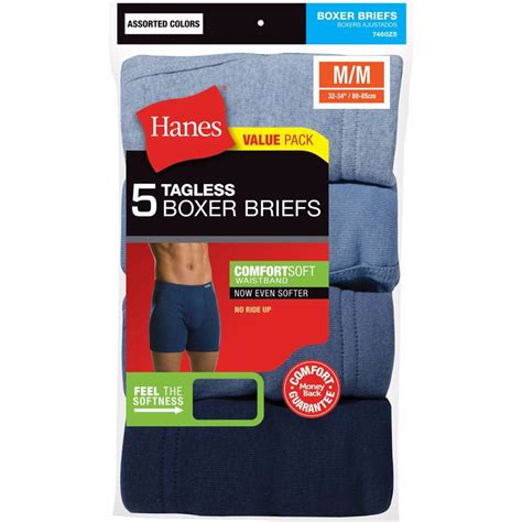 hanes our most comfortable underwear hanes men s boxer briefs 5 10 pack tagless 174 with comfort
