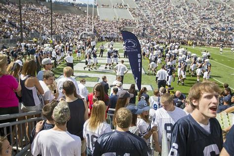 penn state football student section pin by david beagin on fans and alumni pinterest