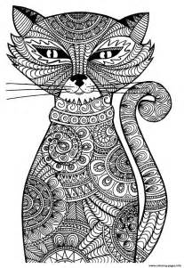 cat coloring pages for adults cat coloring pages printable