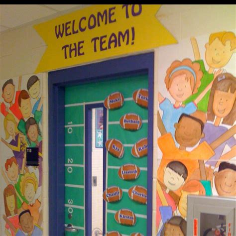 sports themed classroom decorations welcome to the team classroom door teaching teach