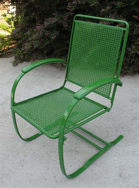 howell cane bouncer vintage   metal lawn chairs porch chairs  metal chairs