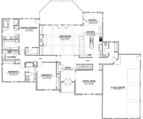 ranch style floor plans ranch 9829 els designs residential home design