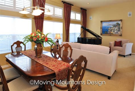How To Stage A Dining Room by Altadena Home Staging By Moving Mountains Design