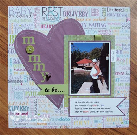 lg s scrapbook world my 2nd double page layout sting with serendipity mommy to be daddy s sunshine