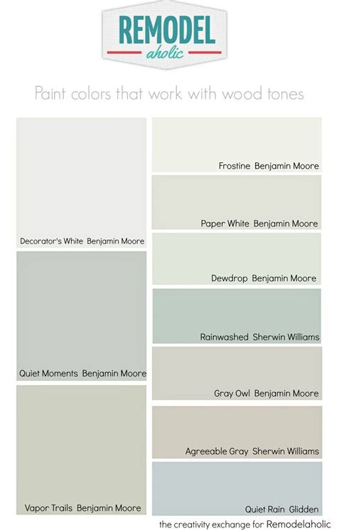 daily diy choosing paint colors that work with wood trim