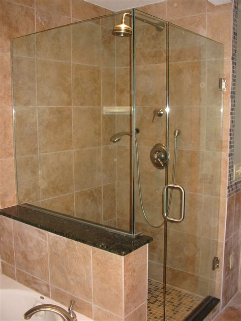 Frameless Shower Glass Door Shower Curtain Free Hooray