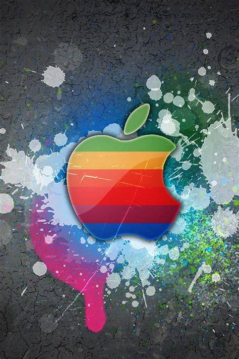 graffiti parede da apple iphone xgs papeis de