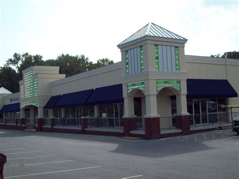 retail fabric awnings retail store and shopping center