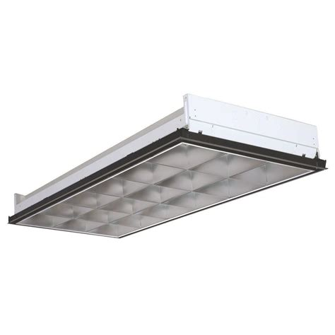 4 Foot Recessed Fluorescent Light Fixture Eco Lighting By Dsi 2 Ft X 4 Ft White Retrofit Recessed Troffer With Led Lighting Kit For