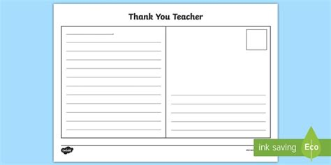 postcard template year 2 thank you postcard writing template end of the