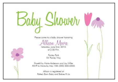 baby shower invitation templates baby shower invitation templates flower garden whimsy