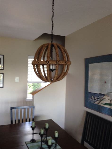 Rope Chandelier Diy Diy Rope Sphere Chandelier Lighting Diy And Crafts Chandeliers And Ropes