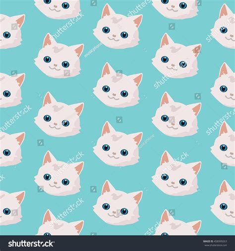 cute pattern cats pattern cute cats stock vector 458999263 shutterstock