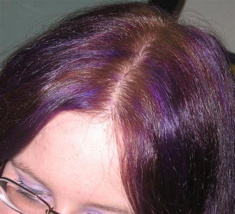 hair with purple streaks the gallery for gt purple streaks in medium brown hair
