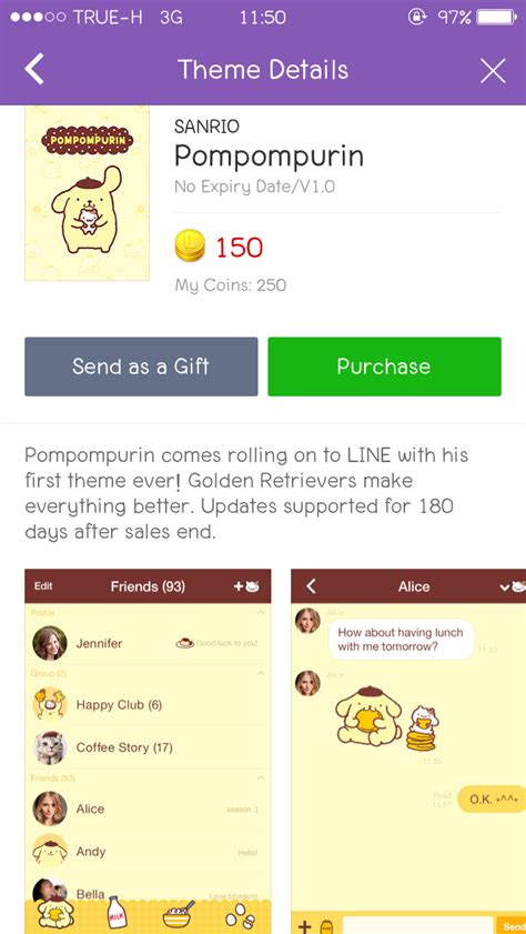 theme line pompompurin cm hacked update new line theme shop 28 07 2015