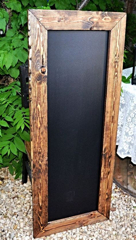 "Large Rustic Framed Chalkboard 20""x50"", Chalkboard Sign"