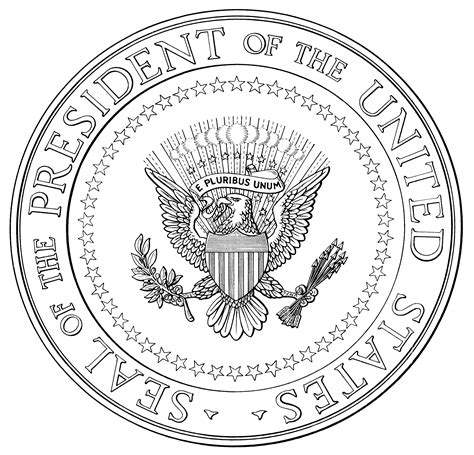 united states seal coloring page seal of the president of the united states of america