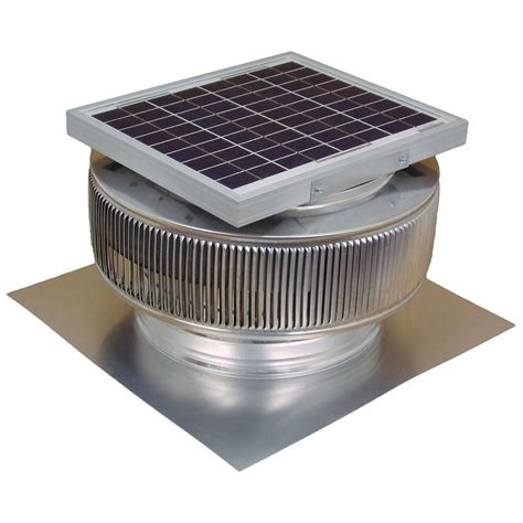 roof mounted exhaust fan active ventilation 740 cfm mill finish 10 watt solar