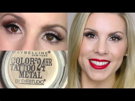 maybelline color tattoo barely branded eyeshadow tutorial barely branded maybelline color