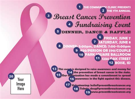 Pink Ribbon Invitation Ticketprinting Com Breast Cancer Raffle Ticket Template