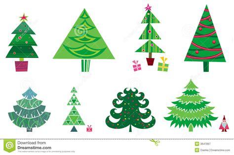 vector del arbol de navidad fotografia de archivo libre de regalias 193 rbol de navidad conjunto del vector fotograf 237 a de