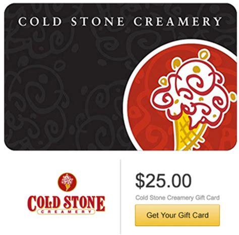 Cold Stone Gift Card Costco - amazon 25 cold stone creamery gift card 20
