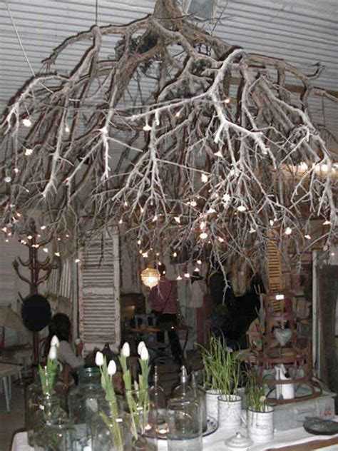 Branch Chandelier Diy 22 Diy Ideas For Rustic Tree Branch Chandeliers World Inside Pictures