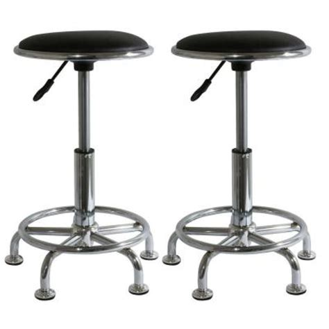 amerihome adjustable height shop stool 2 pieces