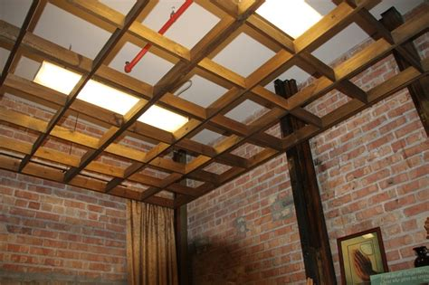 wood grid ceiling 17 best images about store on gardens