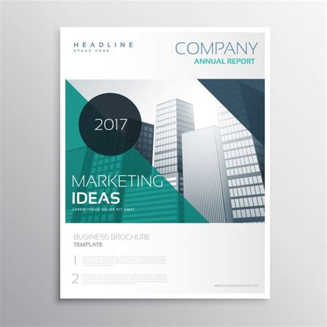 modern business magazine cover vector free