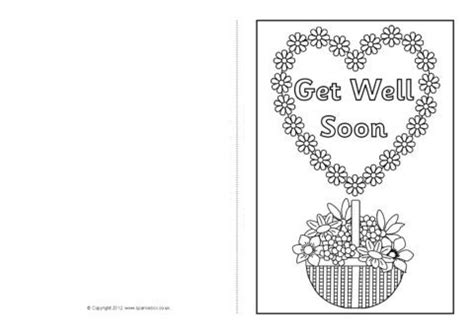 Free Template Get Well Card by Get Well Soon Card Colouring Templates Sb8890 Sparklebox