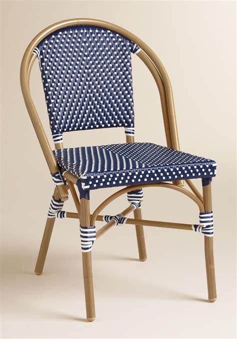 Navy Bistro Chairs Navy Kaliko Bistro Chairs Set Of 2 Decor By Color