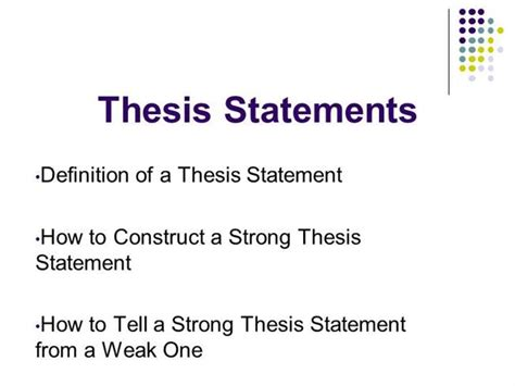 how do i make a thesis statement thesis statement writing authorstream