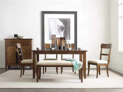 nook dining room sets the nook maple 60 quot dining room set from kincaid furniture
