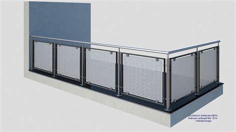 treppengeländer handlauf edelstahl franz 246 sischer balkon lochblech md06ap anthrazit ral7016